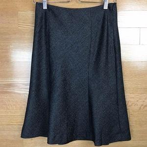 Ann Taylor Gray Wool-blend Skirt